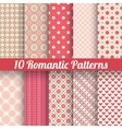 Romantic seamless patterns tiling with swatch vector
