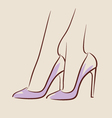 Woman wearing beautiful shoes eps 10 vector