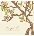 Beautiful blooming tree vector