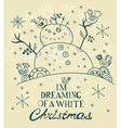 Christmas card for xmas design with hand drawn vector