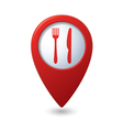 Knife and fork red pointer vector