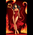 Devil woman vector