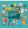 Education flat concept vector