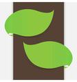 Leaf banner vector