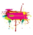 Colorful grunge banner with ink splashes vector