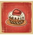 Retro cake background vector