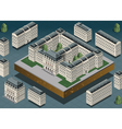 Isometric european historic building vector