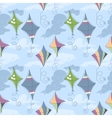 Kites over blue sky seamless pattern vector