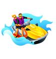 Ski jet ride vector