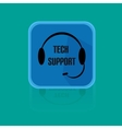 Call centrum flat design button tech support vector