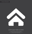 Home premium icon white on dark background vector