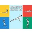 Set of yoga poses boy in recreation activities vector