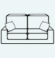 Sofa furniture vector