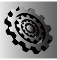 Four gray steel cogwheels vector