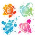 Tints on splashes vector