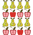 Vintage pear apple background vector