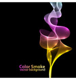Abstract colorful smoke background with black copy vector