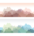 Mountains green vector