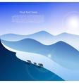 Arctic landscape with three polar bears vector
