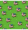 Flying cows pattern vector