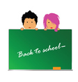 Back to school with children color vector