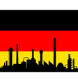 Industry and flag of germany vector