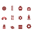 Spa and wellness icons vector
