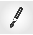 Fountain pen icon flat design vector