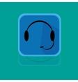 Call centrum flat design button vector