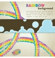 Abstract retro background with rainbow vector