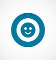 Smile bold blue border circle icon vector