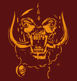 Red and yellow skull vector