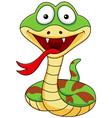 Funny snake cartoon vector