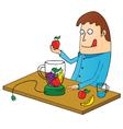 Man making juice vector