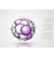 Sphere in the form balls vector