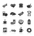 Breakfast icon black vector