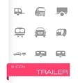 Trailer icon set vector