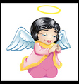 Little angel in pink isolated vector