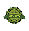 Green badge vector