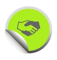 Handshake black icon vector