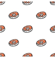 Seamless pattern with doodle doughnuts vector
