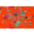 Seamless pattern of colored circles on a red vector