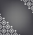 Abstract white square background vector