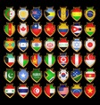Flags badges vector