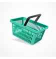 Shopping basket green vector