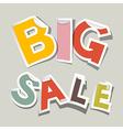 Big sale paper stickers vector