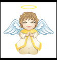 Little angel in white isolated vector
