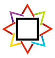 Stylized star design element vector