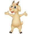 Cute goat cartoon posing vector