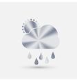Steel icon cloud rain vector